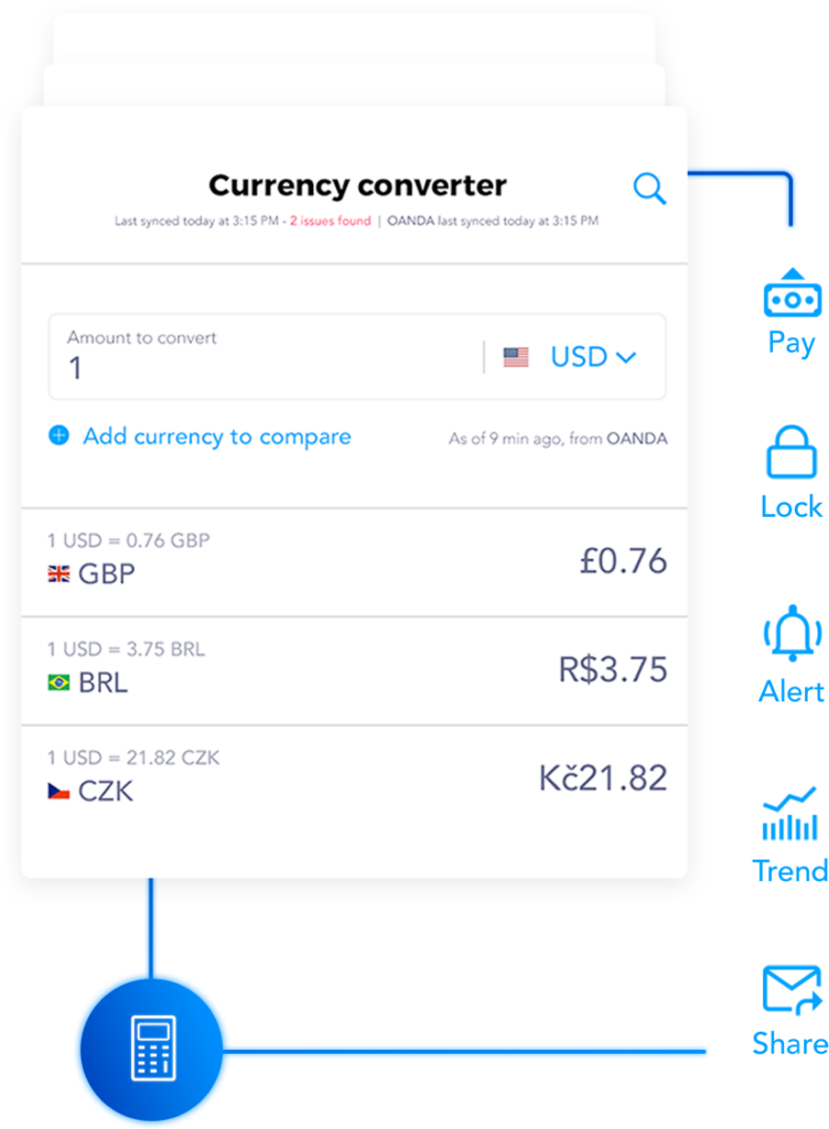 Currency calculator screenshot